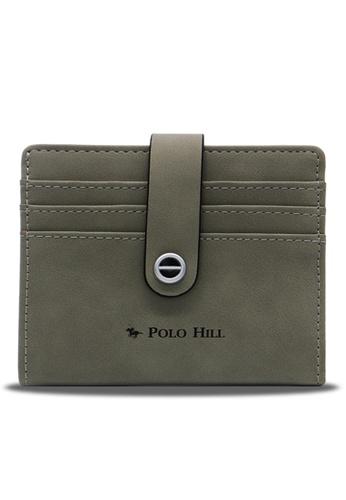 Polo Hill green Polo Hill Ladies Slim & Sleek Bifold Card Wallet A1524AC46AFC9CGS_1