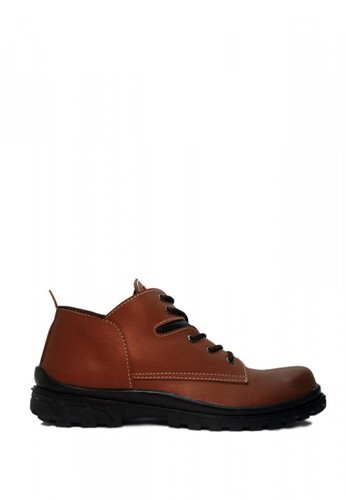 Cut Engineer brown Cut Engineer Safety Iron Classic Low Boots Leather Brown 68C75SH3859F62GS_1