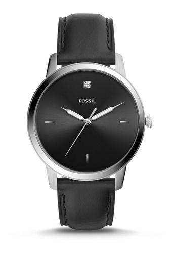 Fossil black The Minimalist 3H Analog Watch FS5497 0B55EAC8F66F6AGS_1