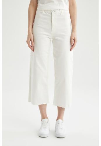 DeFacto beige High Waist Cotton Trousers 4C412AA4FE30A6GS_1