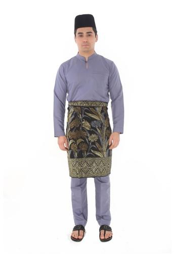 Amar Amran grey Baju Melayu Gumbae 69BCBAA137F026GS_1