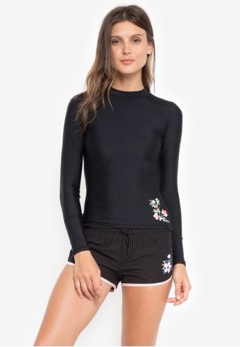 Sassa black Castaway Floral Long Sleeve Rashguard C80FBUSCC537ADGS_1