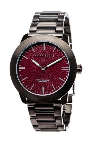 PERRY ELLIS silver Perry Ellis Slim Line Unisex 42mm Quartz Stainless Steel Watch 07005-02 D0086AC330C1FEGS_1
