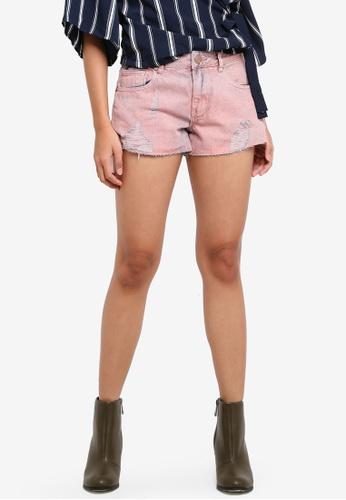 Cotton On purple Mid Rise Saturday Denim Shorts F15DCAA38EEF57GS_1