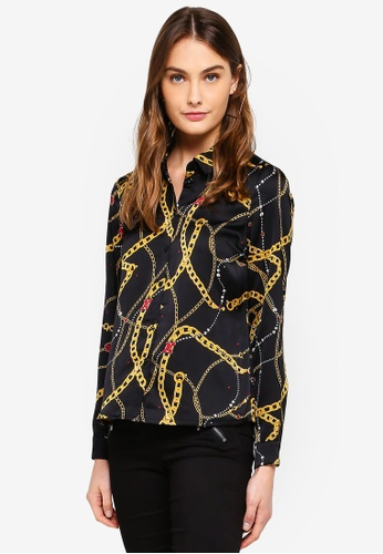 Vero Moda black Chain L/S Shirt 00532AA1258926GS_1