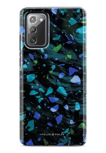 Polar Polar blue Ocean Terrazzo Gem Dual-Layer Tough Case Glossy For Samsung Galaxy Note20 5G 04E85AC9CB7557GS_1