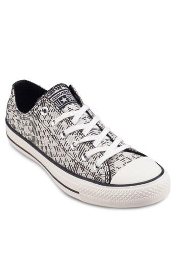 Chuck Taylor Alesprit 會員l Star Raffia 印花布鞋, 女鞋, 鞋