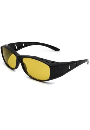 jojo black Classic Fitover Cut-Out Night Driving Polarized Sunglasses EBD6EGL729A925GS_1