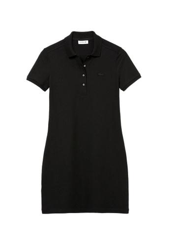 Lacoste black Lacoste Women's Stretch Cotton Piqué Polo Dress 37FE1AAF8C356EGS_1