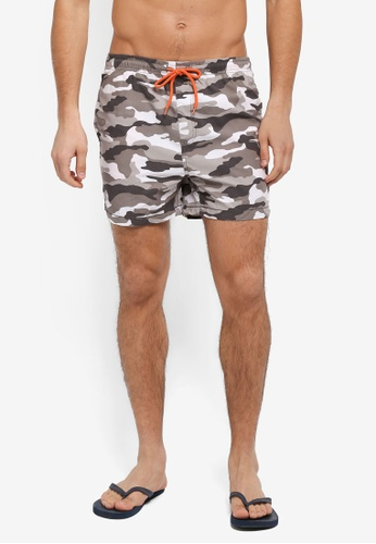 Factorie grey and multi Jose Poolboy Shorts 50640AA1115B57GS_1
