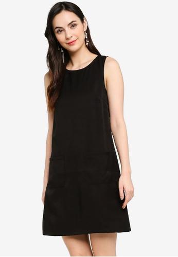 ZALORA WORK black Textured Shift Dress 3DCF5AADBAABC6GS_1