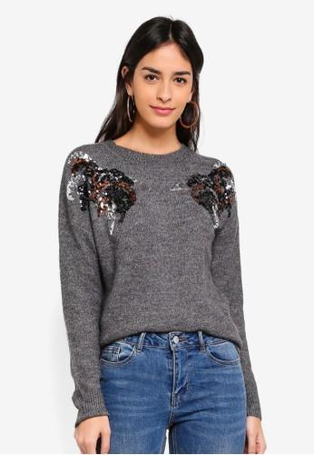 Vero Moda grey Pacal O-neck Sweater E4304AA4019583GS_1