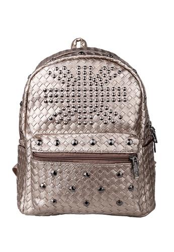 Vince grey Korean Designed Minimalist BackPack ( Brown ) FL898AC67AOIMY_1