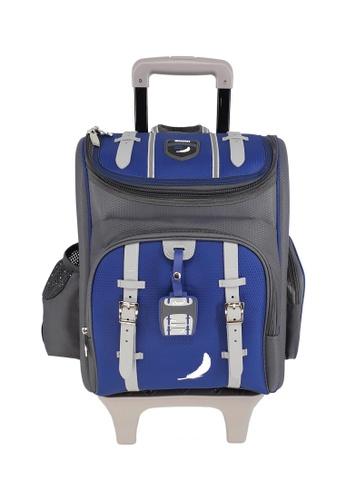 Swan blue Swan Kid Children School Bag NEW Technolite (Blue) Spinal Protection Back Support  10 Wheels Trolley School Bag CAAC6KCA3D78E1GS_1