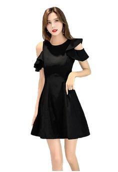 e19ca25e3ec2d9 Halo black Summer Cold Shoulder Dress 8E72FAA89489B6GS_1