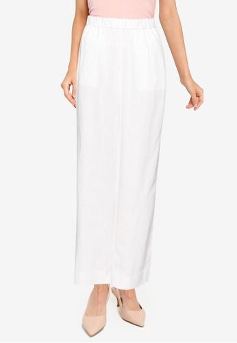Banana Republic white Straight Linen Pull On Pants F73BAAAE8E74F4GS_1
