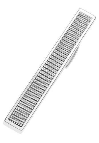 CUFF IT silver 57mm Silver Grid Tie Clips 5D86DACE90FB2CGS_1