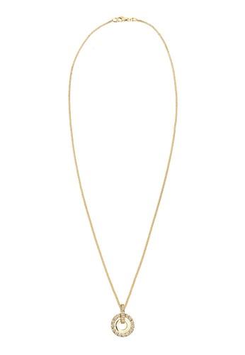 施華洛世奇水晶圈 925 zalora 包包 ptt純銀鍍金項鍊, 飾品配件, 項鍊
