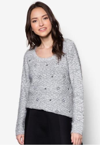 滿天zalora時尚購物網的koumi koumi星針織衫, 服飾, 服飾