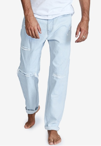 Cotton On blue Relaxed Tapered Jeans 6272CAA5A6891EGS_1