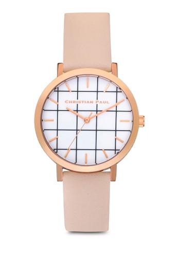 Boesprit home 台灣ndi 35mm 格紋手錶, 錶類, 時尚型