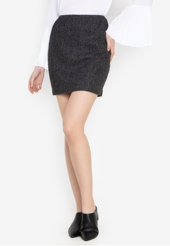Susto The Label grey Gwen Wool Skirt 102A3AA77A3400GS_1