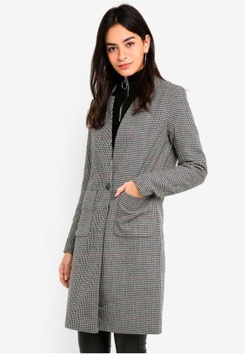 ONLY black Helen Check Wool Coat 82D2CAA8BB61D1GS_1