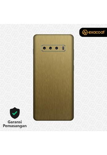 Exacoat Galaxy S10 / S10+ 3M Skins Titanium Series - Titanium Gold A1563ESAC72832GS_1