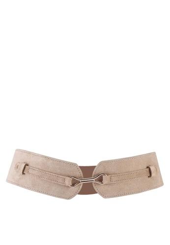 Pieces 褐色 Mellie 麂皮腰帶 251F6ACFDF22CBGS_1