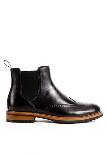 Twenty Eight Shoes 黑色 必特真皮復古雕花短靴 G03-9 2F0B0SH1946B2EGS_1
