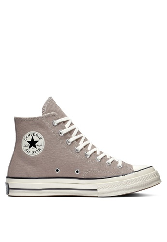 2a0a8b4658 Converse brown Chuck Taylor All Star 70 Washed Canvas Hi Sneakers  2B061SH1F4D05CGS_1