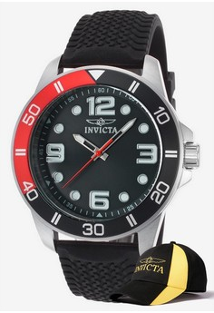 Pro Diver Men 45mm Case Watch 21851 with FREE Baseball Cap