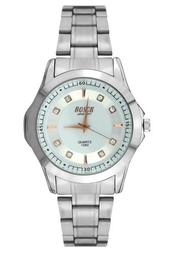 Dooka silver Bosck Men's Round Dial Stainless Steel Wrist Watch 1082 DO079AC41UZMPH_1