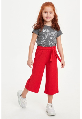 DeFacto red Girl Knitted Trouser 9D8DBKA4FF824BGS_1