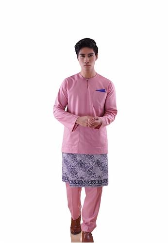 I Am Famous pink Asytar Baju Melayu with Sampin EB74FAA93019A4GS_1