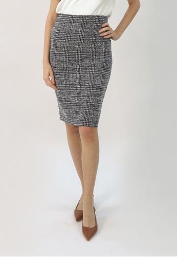 Cheetah grey C.Union Pencil Skirt- CUL-12268 55785AAB11DCBEGS_1