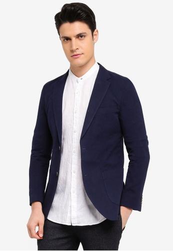 ESPRIT navy Suit Regular Blazer 708C3AA6E09AA6GS_1