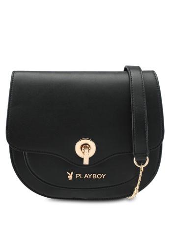 PLAYBOY BUNNY black Playboy Bunny Sling Bag PL604AC0SMLIMY_1