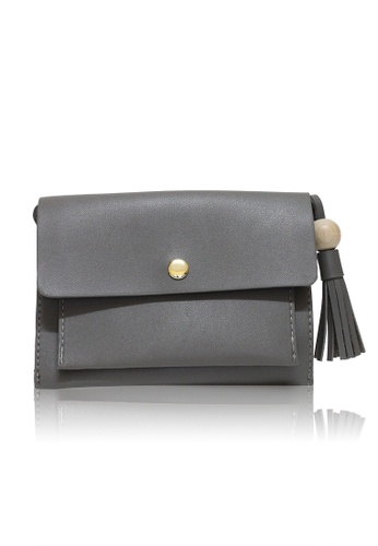 Dazz grey Mini Envelope Bobble Bag - Grey DA408AC0RIBEMY_1