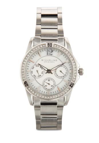 Stuhrling Original 914.01 Mariesprit auna 施華洛奇晶鑽多功能女錶, 錶類, 飾品配件