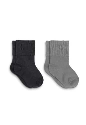 APAIR grey and multi Plain Basic Baby Crew Socks 9E4CCKA1FAF9A7GS_1
