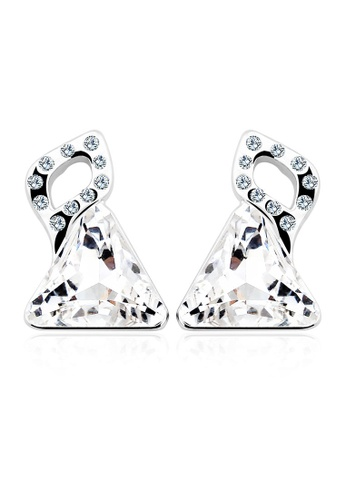 OUXI silver OUXI Crystal Earrings - 20811 OU821AC11PPSMY_1