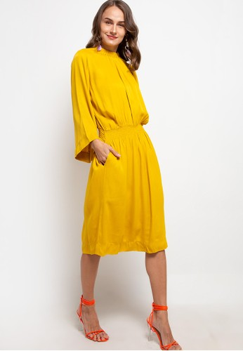 The Ocean Bali yellow Azura Silk Dress 70347AA29E934FGS_1
