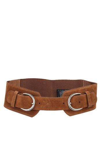 ONLY brown Leather Waist Belt AF9ADAC2BA0583GS_1