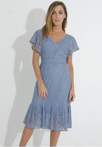 b5d9db8c30 Buy FORCAST Valerie V-Neck Lace Dress Online on ZALORA Singapore