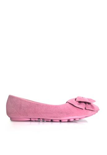 Twenty Eight Shoes 粉紅色 空氣感蝴蝶結平底鞋 VL1323 4F24CSHF61C336GS_1