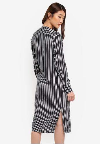 9084f3ed4c4 Buy Dorothy Perkins Black Stripe Tie Front Shirt Dress Online on ZALORA  Singapore