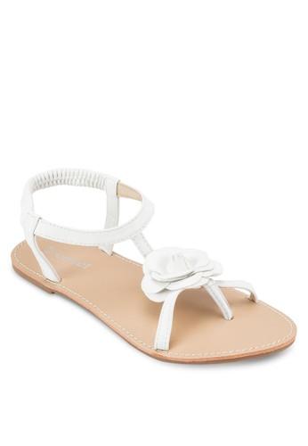 花飾彈性繞踝涼鞋, 女esprit taiwan鞋, 涼鞋