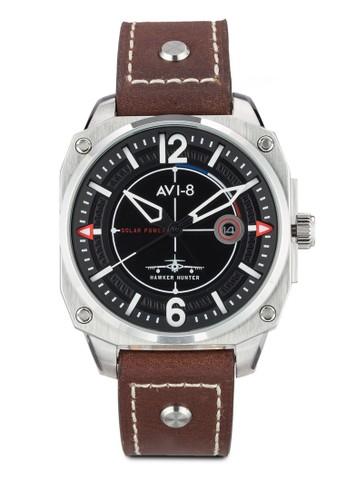 Hawker Hunter 皮革手錶,esprit台灣 錶類, 飾品配件