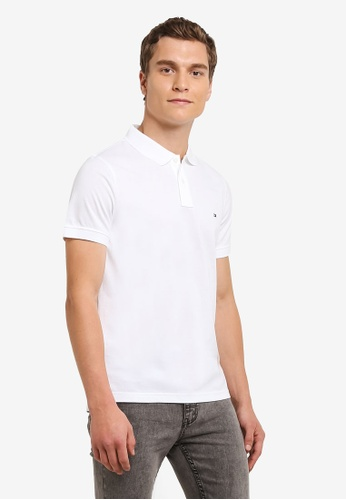 Tommy Hilfiger white LUXURY SLIM FIT TIPPED POLO S/ TO729AA0FFQTSG_1